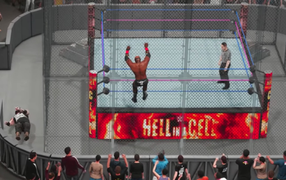 wwe 2k19 hell in a cell how to climb