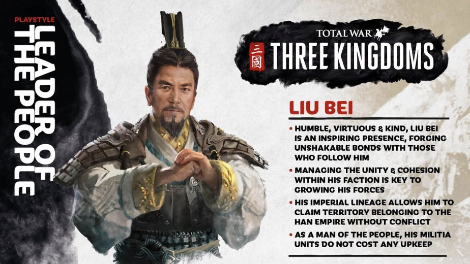 Total War Three Kingdoms Heroes Liu Bei Info