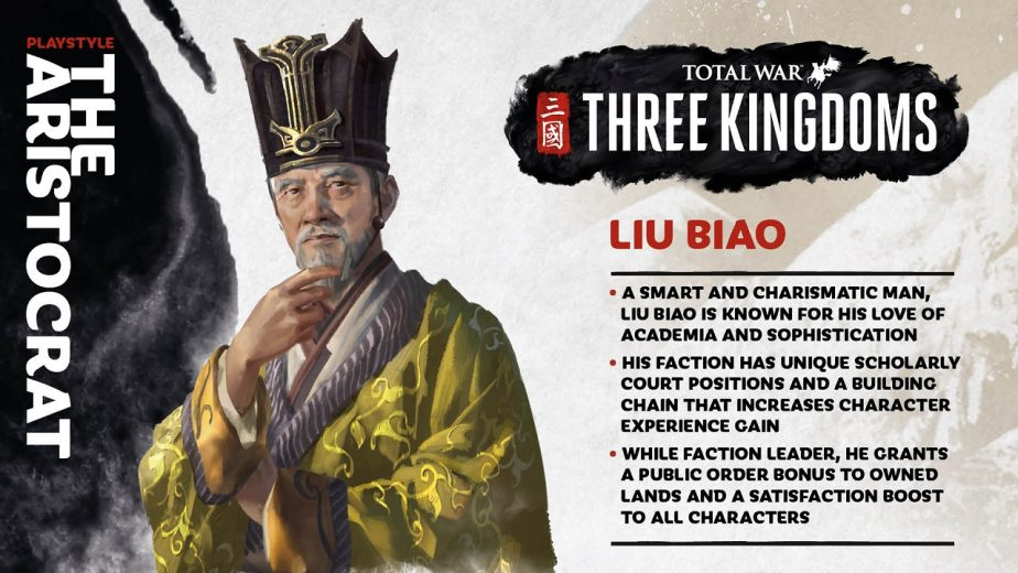 Total War Three Kingdoms Heroes Liu Biao