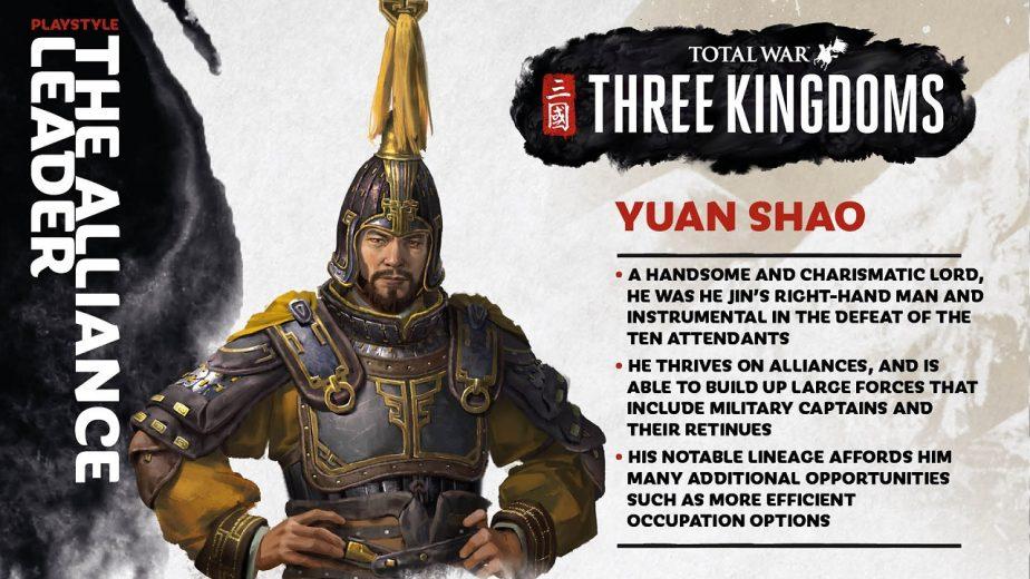 Total War Three Kingdoms Heroes Yuan Shao