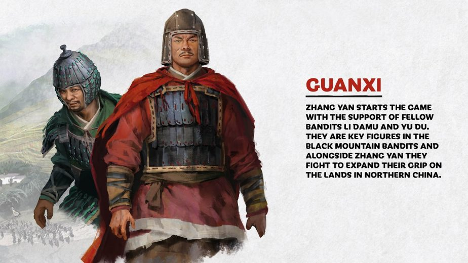 Total War Three Kingdoms Heroes Zhang Yan Guanxi