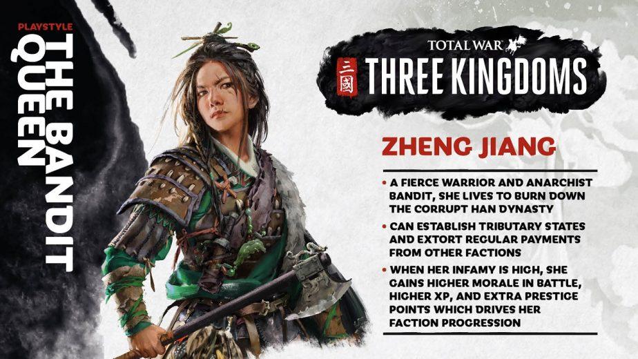 Total War Three Kingdoms Heroes Zheng Jiang Details