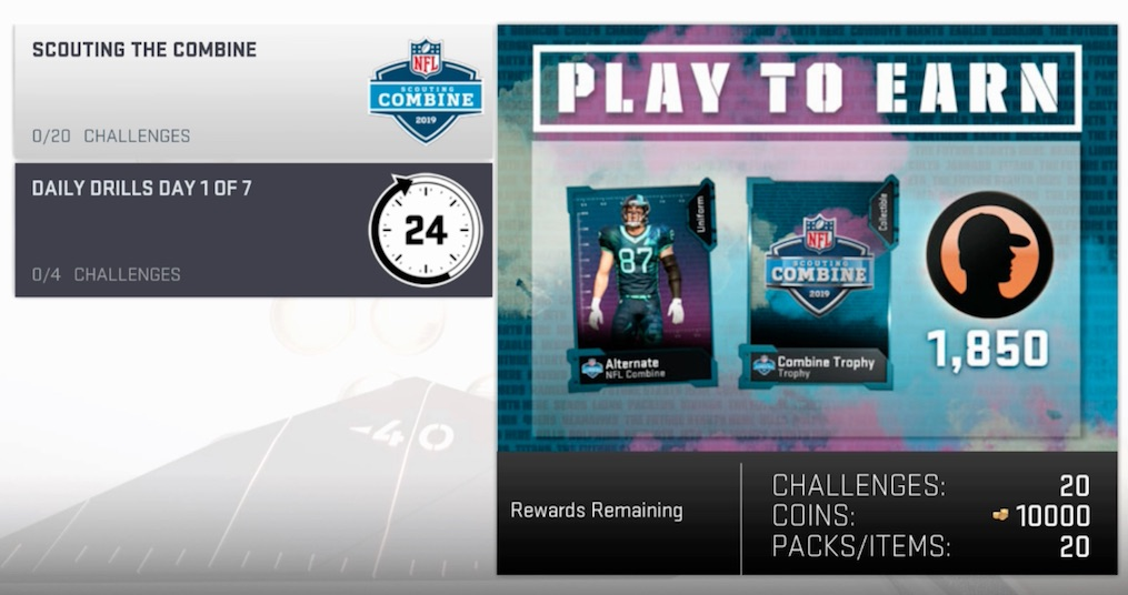 madden 19 scouting combine challenges