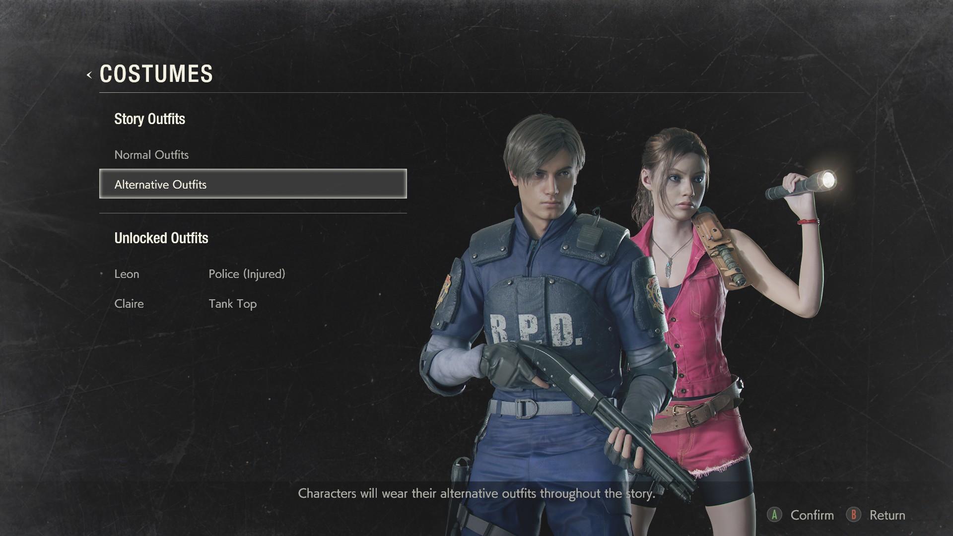 Resident Evil 2 How To Unlock All Alternate Costumes