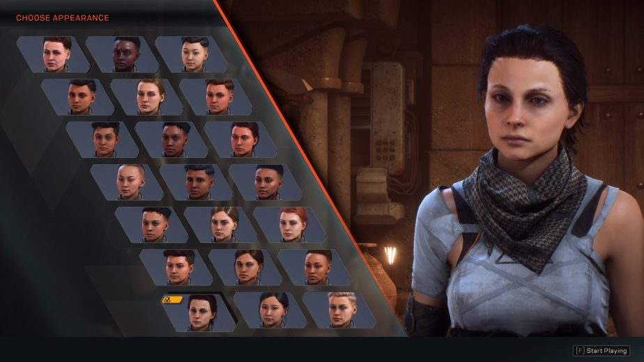 Anthem Character Creation