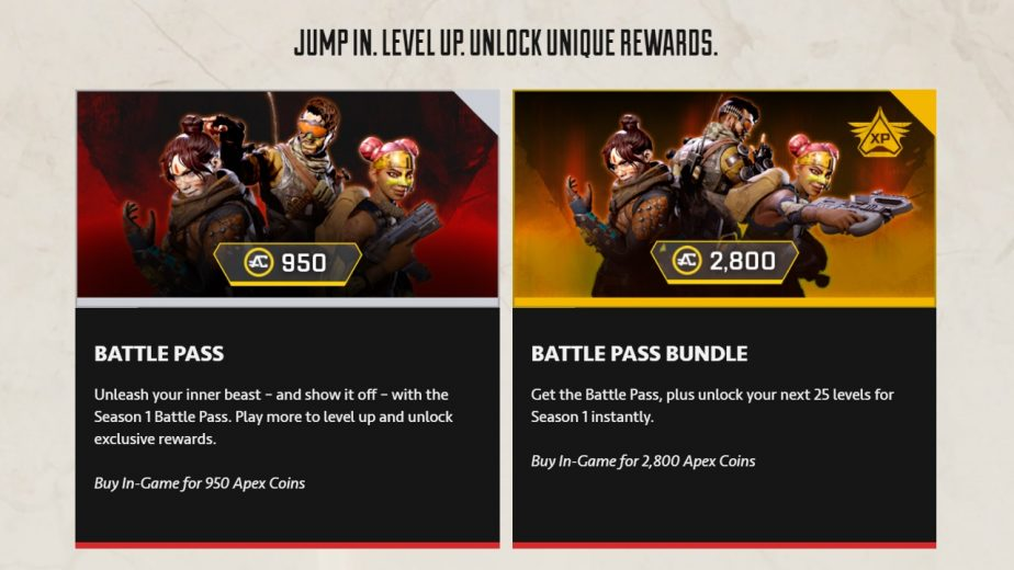 Apex Legends Battle Pass Costs Revealed
