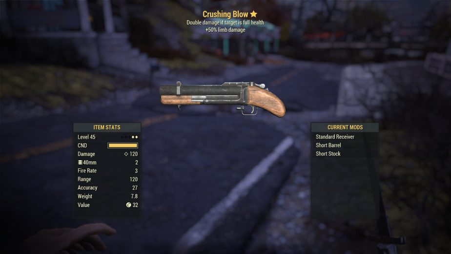 The First Six Fallout 76 Survival Mode Legendary Weapon Rewards