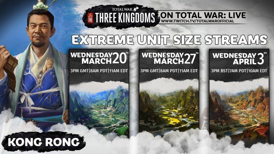 Total War Three Kingdoms Livestreams Kong Rong