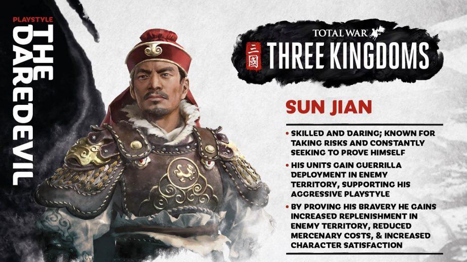 Total War Three Kingdoms Starting Location Sun Jian Details