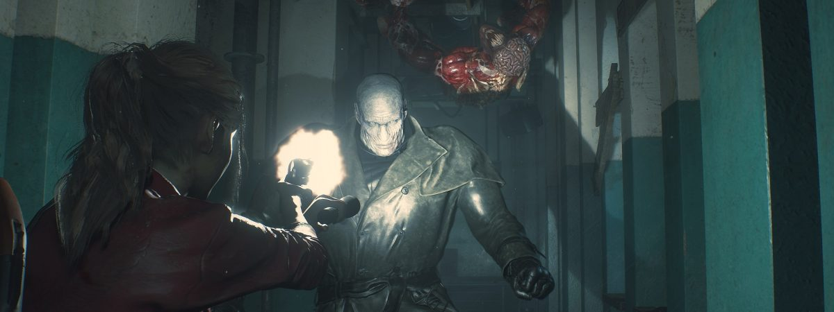 Resident Evil 2 Mr. X Thomas the Tank Engine mod