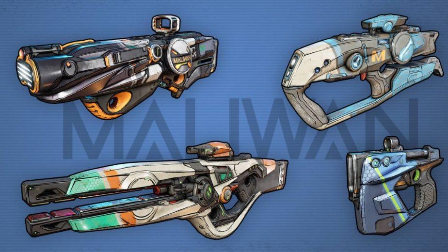 Borderlands 3 Gun Manufacturers Maliwan
