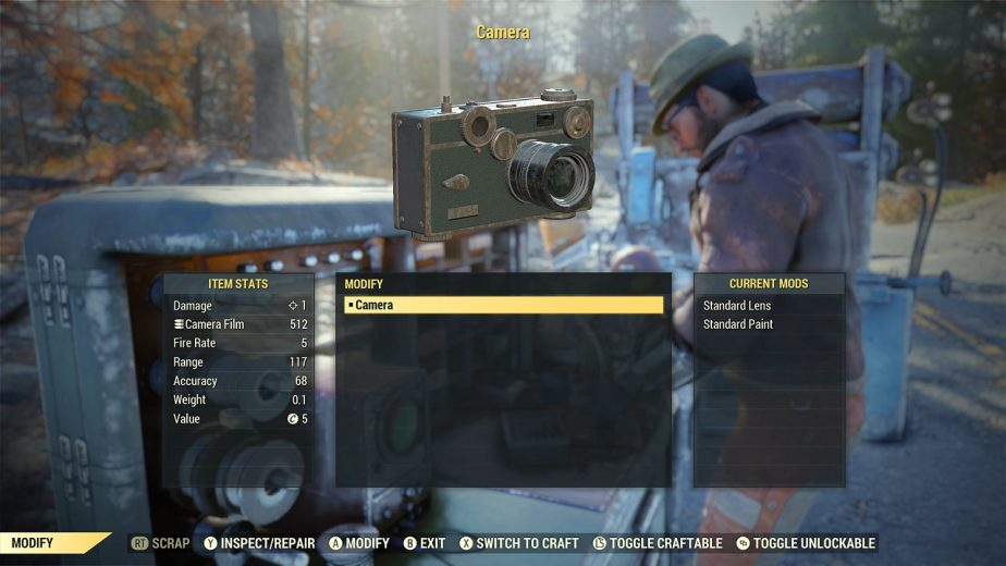 Fallout 76 Camera Item How it Works