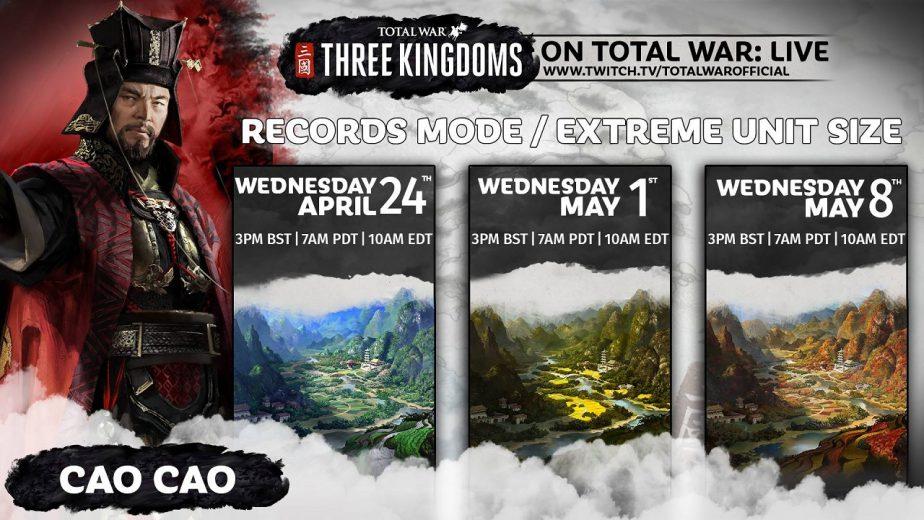 Total War Three Kingdoms Livestreams Cao Cao