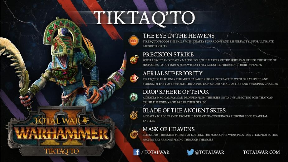 Total War: Warhammer 2 Free-LC Will Add Lizardmen Lord Tiktaq'to