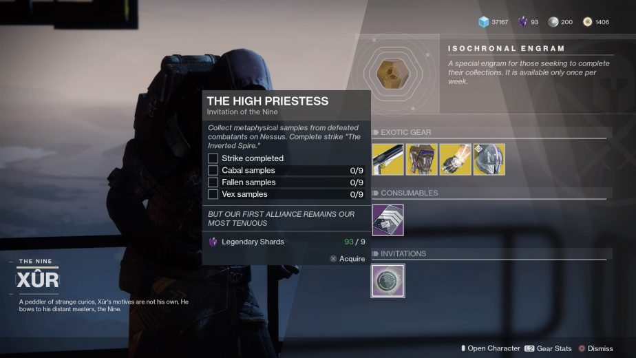 Destiny 2: How to Complete the High Priestess Invitation of the Nine