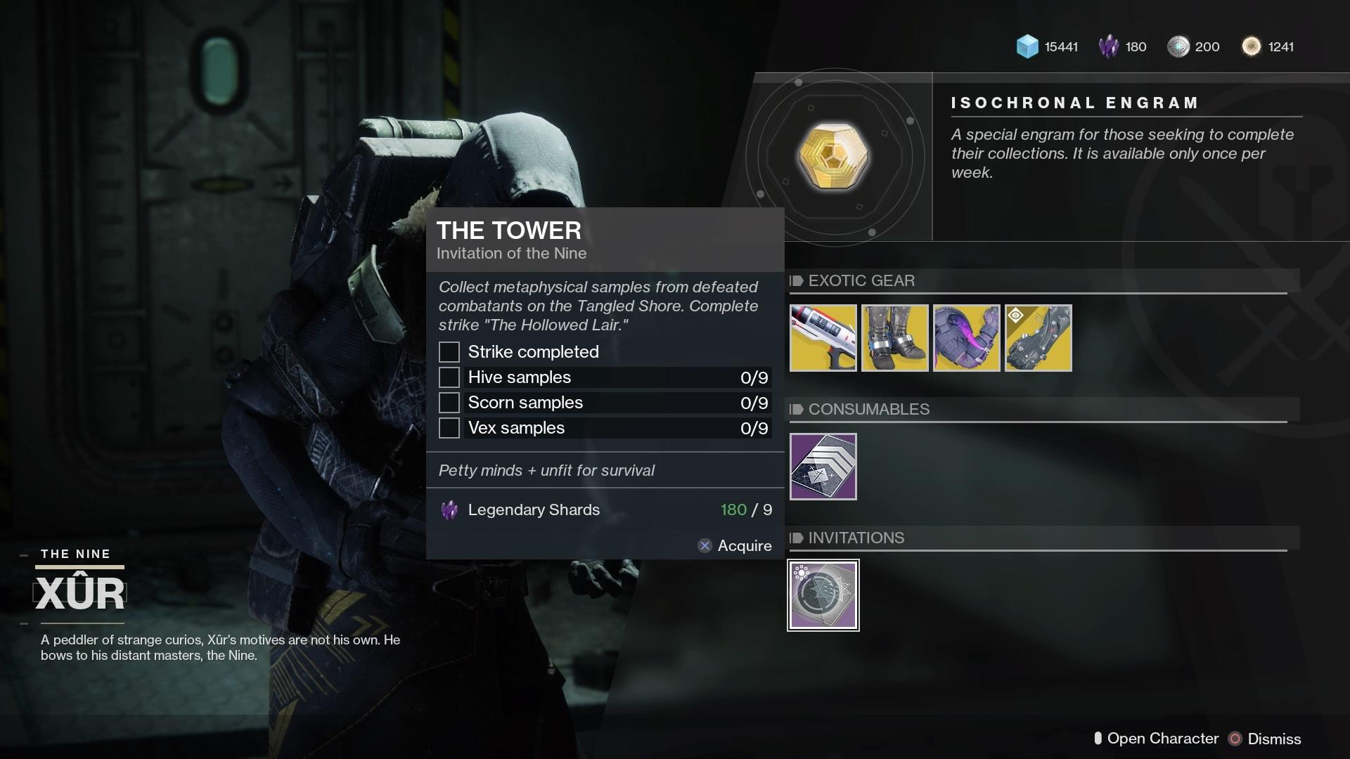 Destiny 2 The Tower Invitation of the Nine bounty