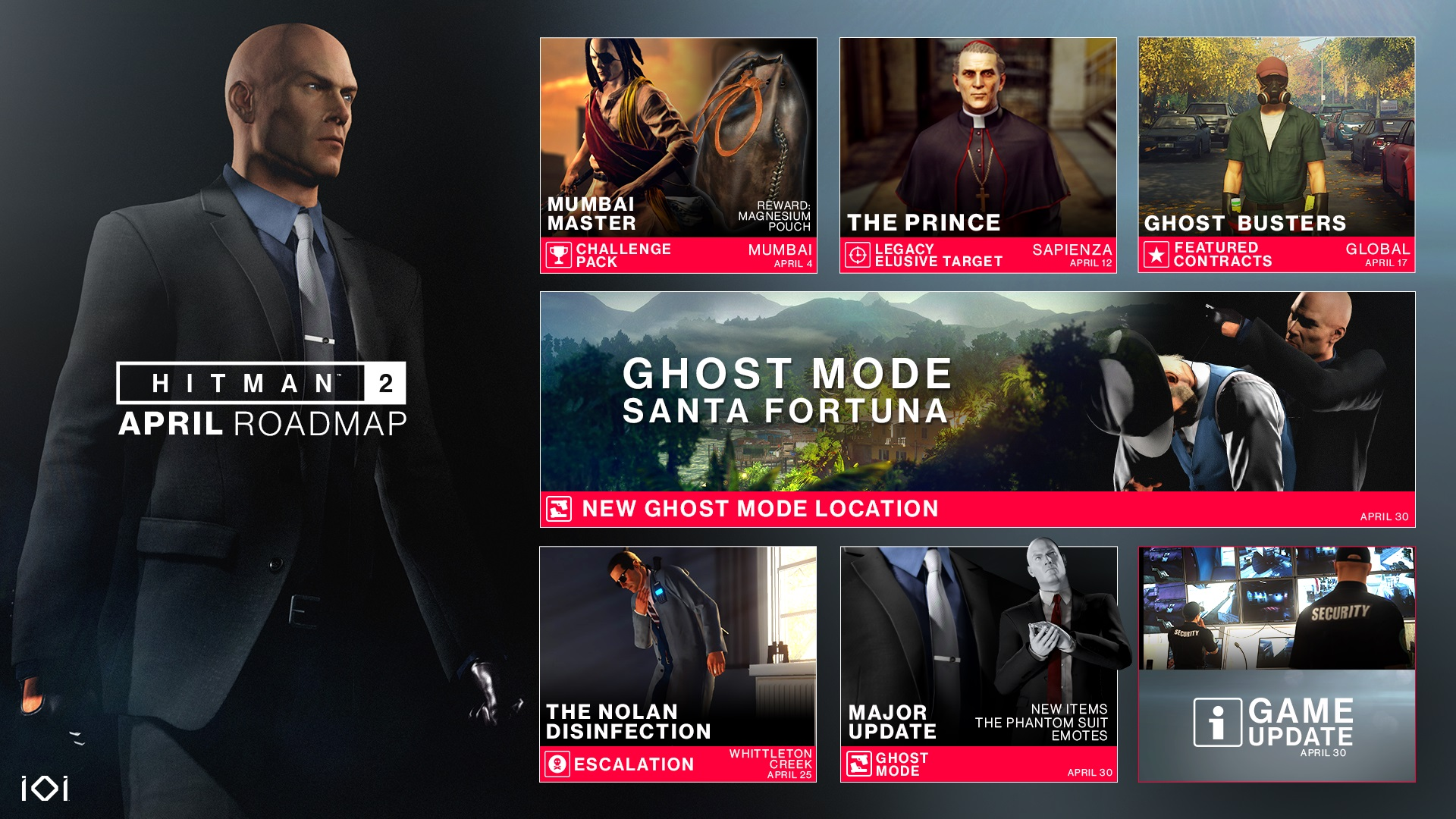 Hitman 2 Ghost Mode improvements