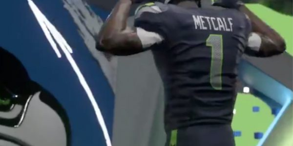 seattle seahawks rookie dk metcalf shows madden 20 player