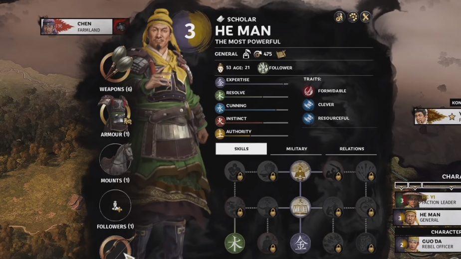 Total War Three Kingdoms Yellow Turban DLC He Man
