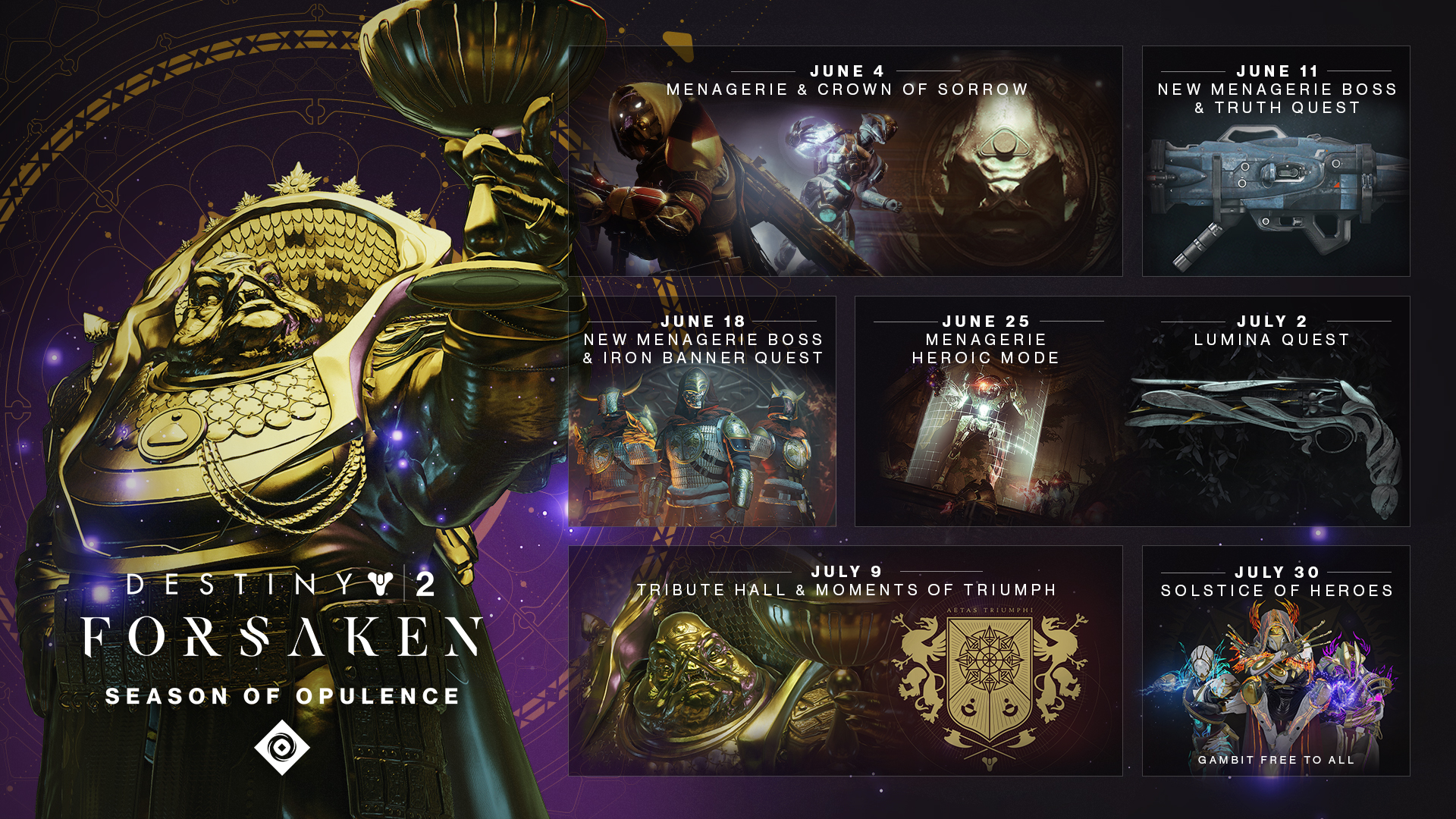 Destiny 2 Season of Opulence features