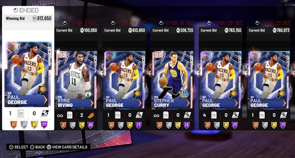 Nba 2k19 Paul George 20th Anniversary Packs Bring New Pg13