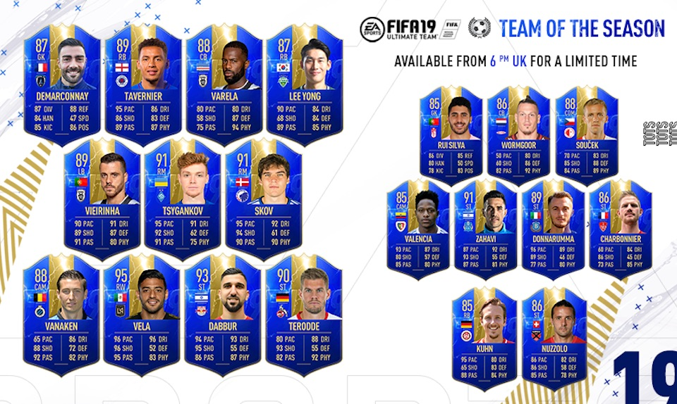 fifa 19 tots rest of world lineup shown