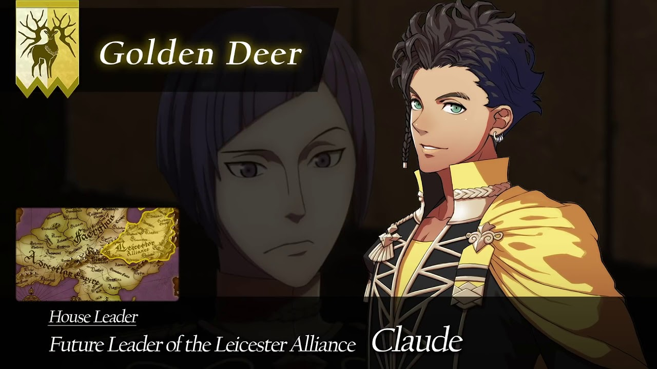 Claude Leads The Golden Deer In Three Houses