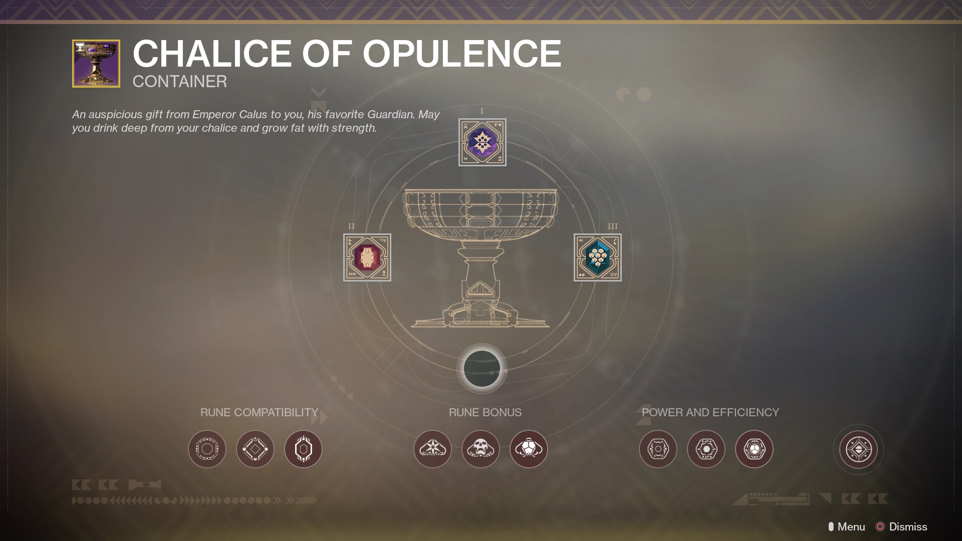 Destiny 2: Bungie Explains How Chalice of Opulence System Works