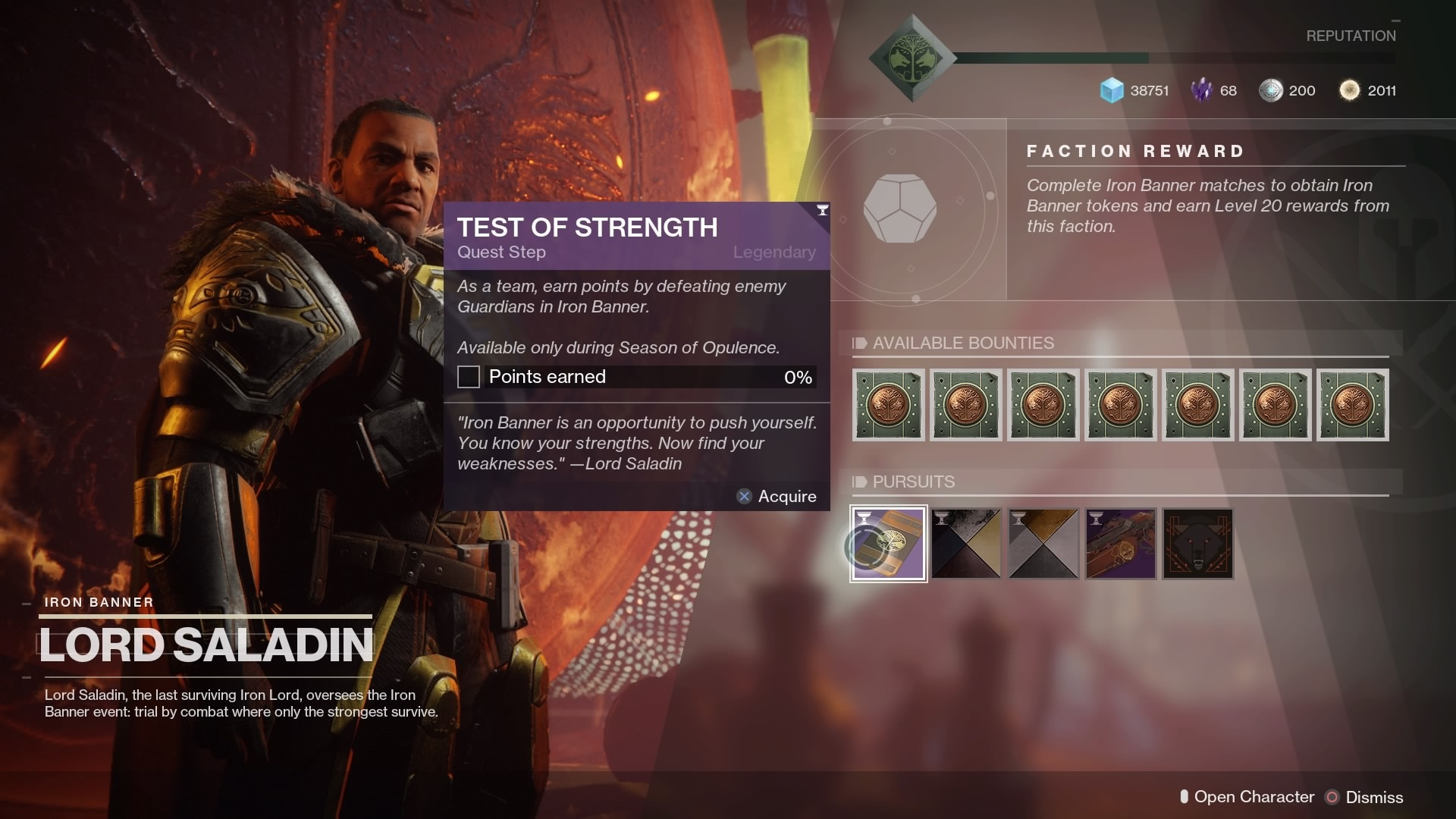 Destiny 2: How to Complete the Test of Strength Iron Banner Quest