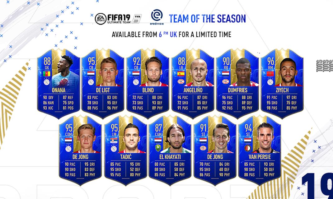 FIFA 19 Eredivisie TOTS Brings 11 Ultimate Team Upgrades Including Hakim Ziyech, Matthijs De Ligt