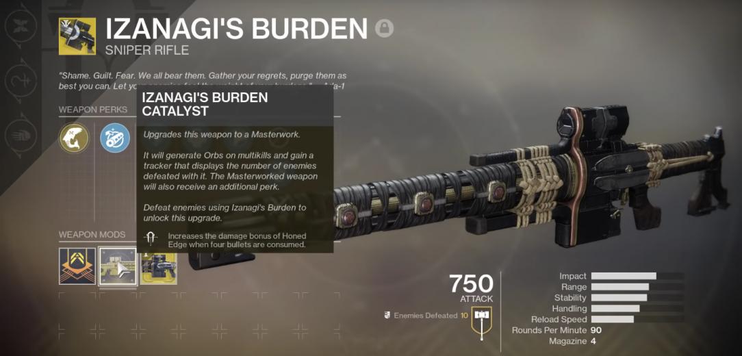 Image result for Izanagi's Burden in Destiny 2