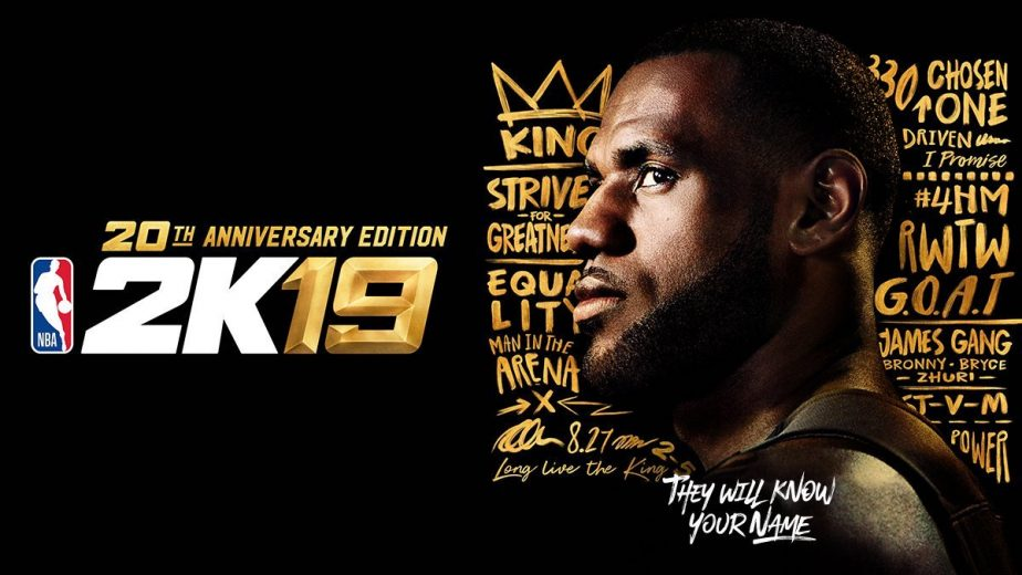 nba 2k19 20th anniversary edition with lebron james cover