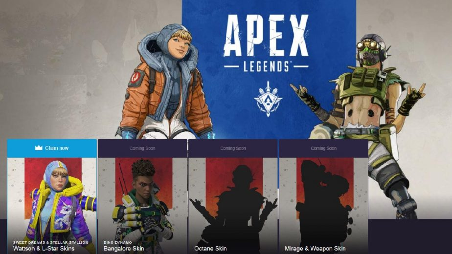 Apex Legends Twitch Prime Content Exclusive Season 2