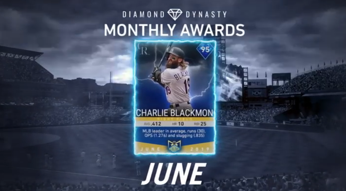MLB The Show 19: June Monthly Awards Feature Charlie Blackmon, DJ LeMahieu, More