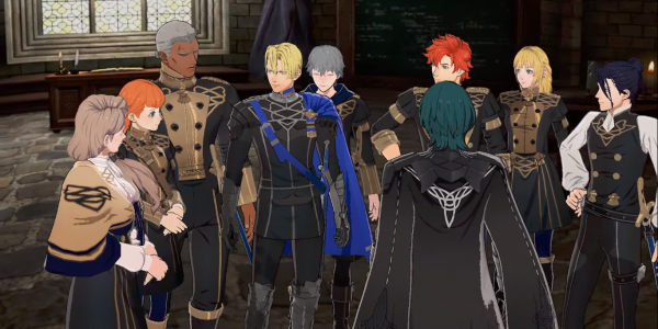 The Blue Lions Gather Around Byleth