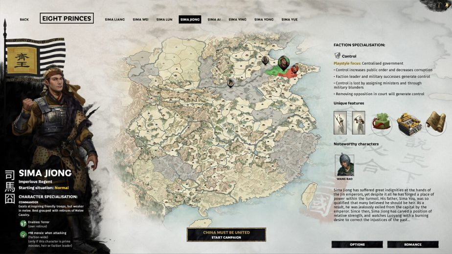 Total War: Three Kingdoms – Eight Princes DLC Heroes – Sima Jiong