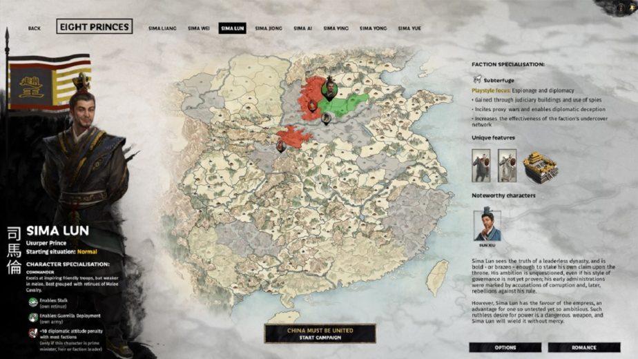 Total War: Three Kingdoms – Eight Princes DLC Heroes – Sima Lun