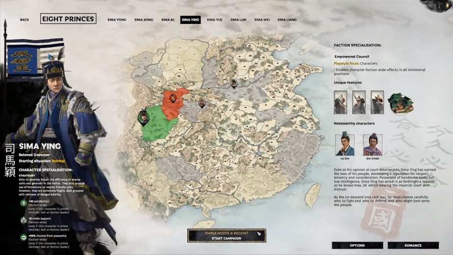 Total War: Three Kingdoms – Eight Princes DLC Heroes – Sima Ying