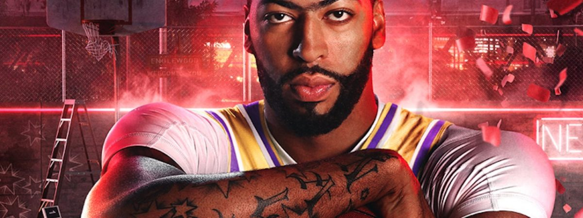 nba 2k20 cover star anthony davis shows off xbox one x bundle lakers jersey