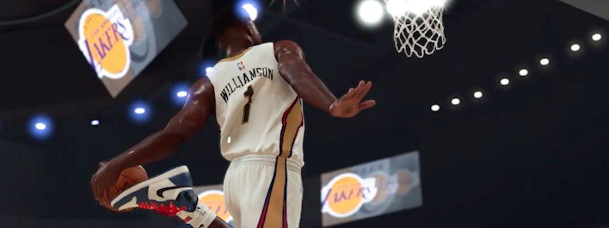 nba 2k20 gameplay footage new zion williamson video