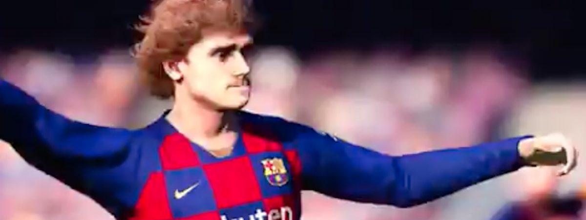 pro evolution soccer 2020 gameplay video antoine griezmann barcelona