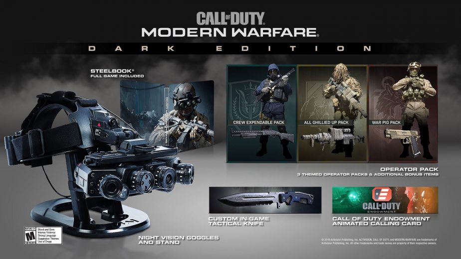 Activision Unveils New Call of Duty: Modern Warfare Dark Edition