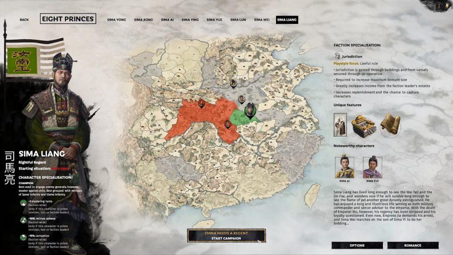 Total War: Three Kingdoms – Eight Princes DLC Heroes – Sima Liang