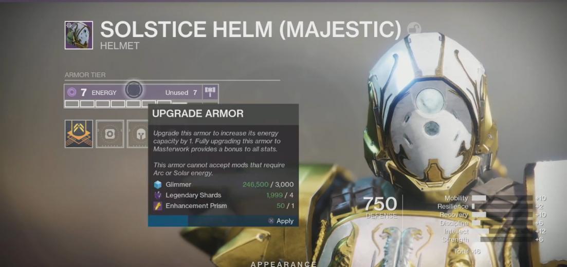 Destiny 2 Armor 2.0 in Shadowkeep