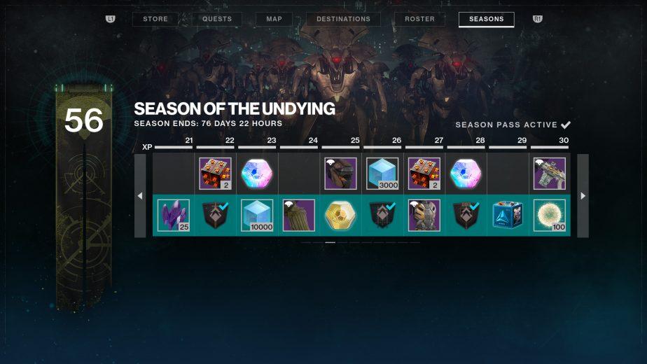 Destiny 2 Season Pass Shadowkeep Season of the Undying
