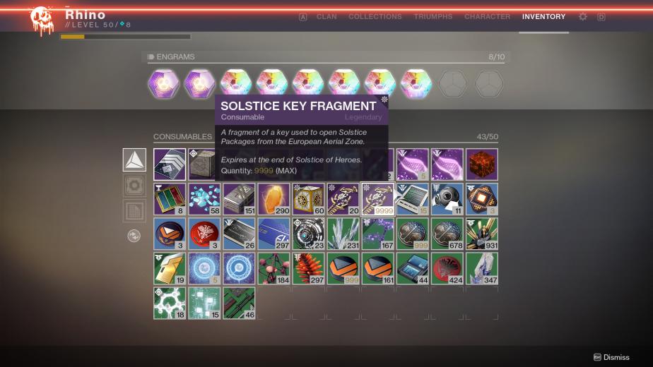 Destiny 2 Solstice Key Fragments