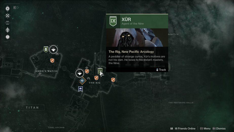 Destiny 2 Xur Exotic Vendor