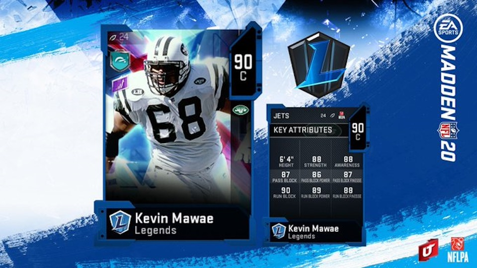 madden 20 kevin mawae legends card