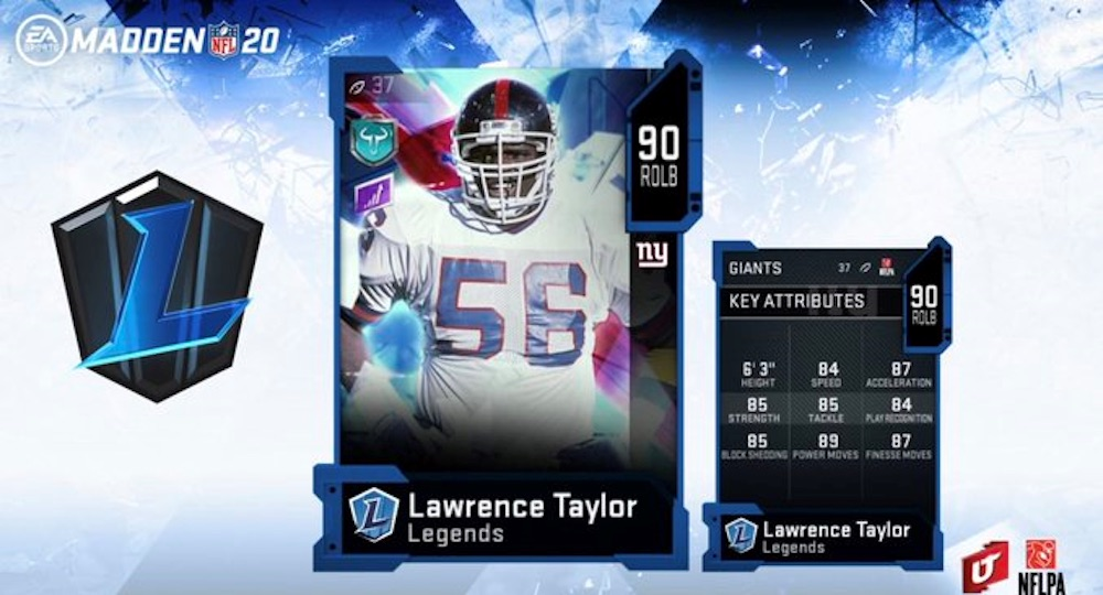 Madden 20 Legends: Lawrence Taylor, Bruce Matthews Return to Ultimate Team