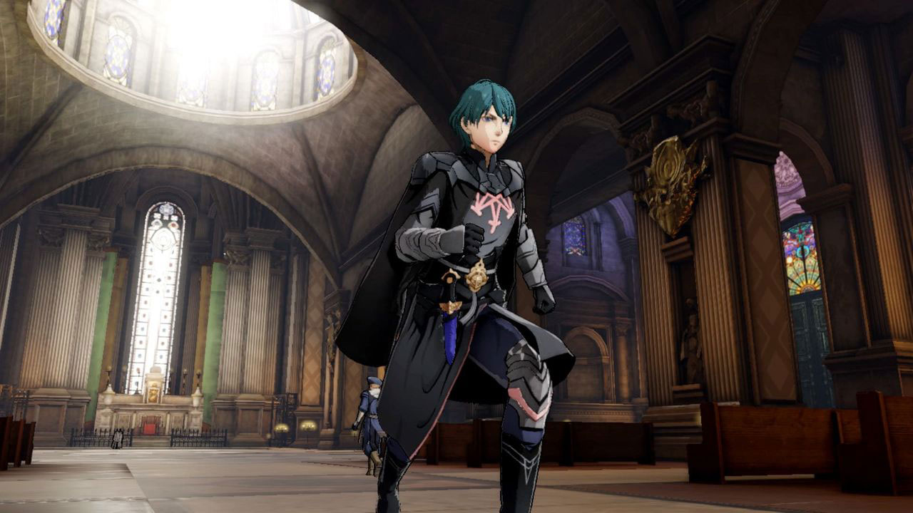 Byleth at the monastery